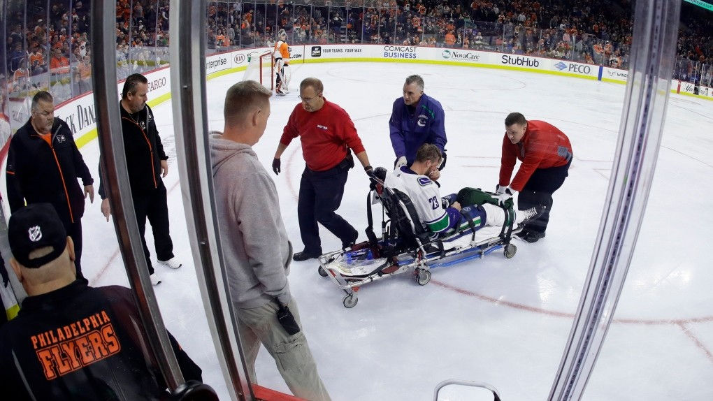 Canucks Edler Sidelined By Concussion After Nasty Fall Ctv News