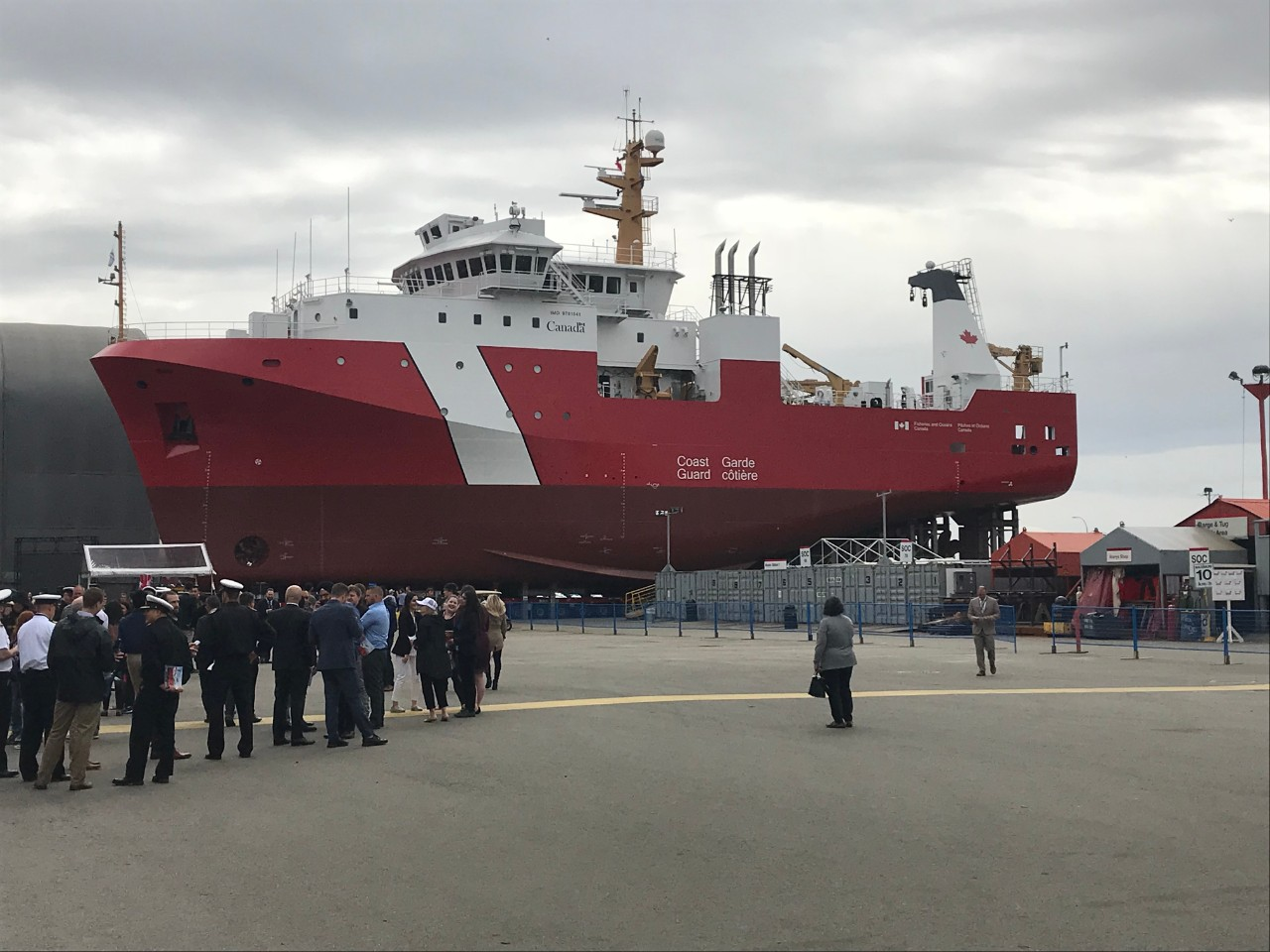 Newest Coast Guard Vessel Launched In North Vancouver Ctv News