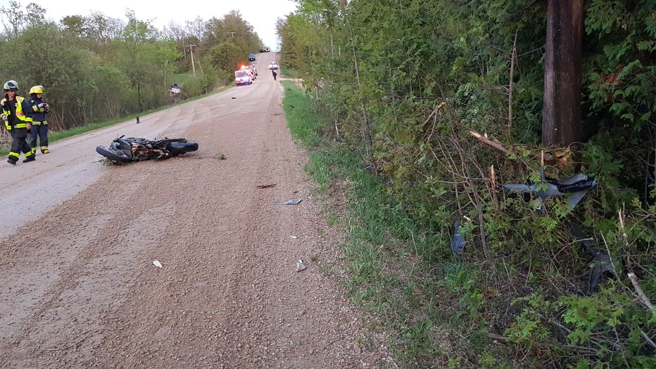 Markdale-area crash involving Hummer and motorcycle 'suspicious