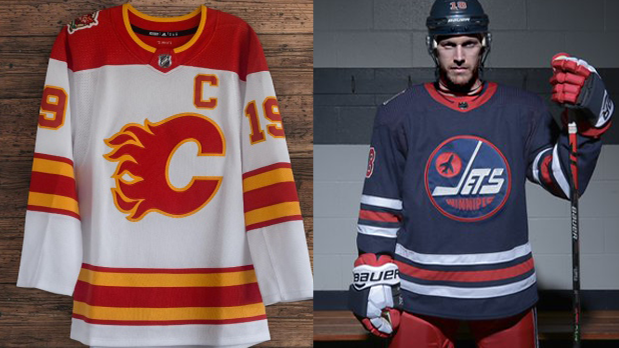 buy popular 41598 a199a Calgary Flames, Winnipeg Jets reveal Heritage Classic ...