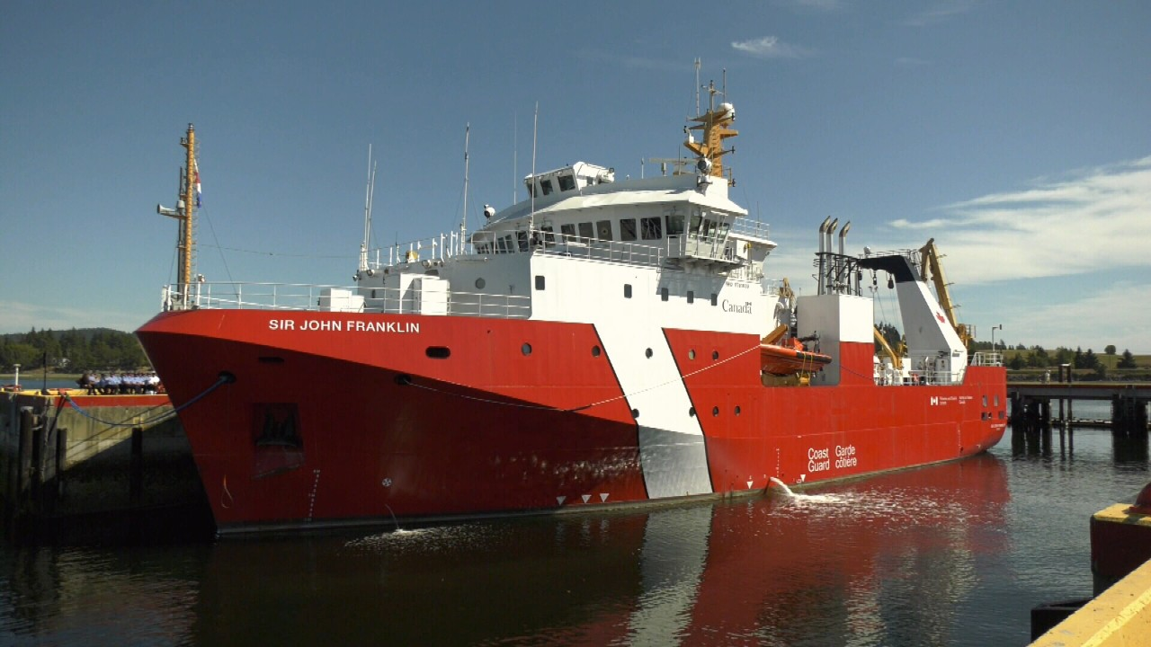 Canadian Coast Guard S Newest Ship Dedicated In Sidney Ctv News