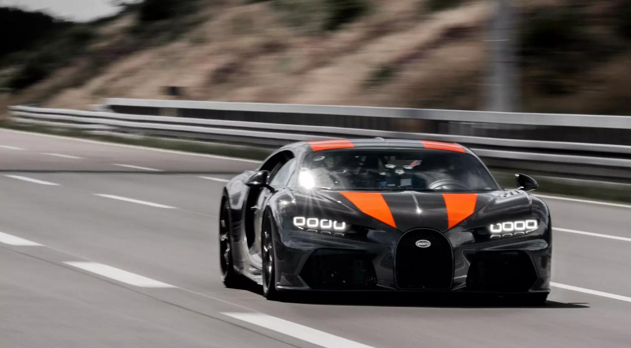 Bugatti says Chiron test model speeds past 'magic 300-mile