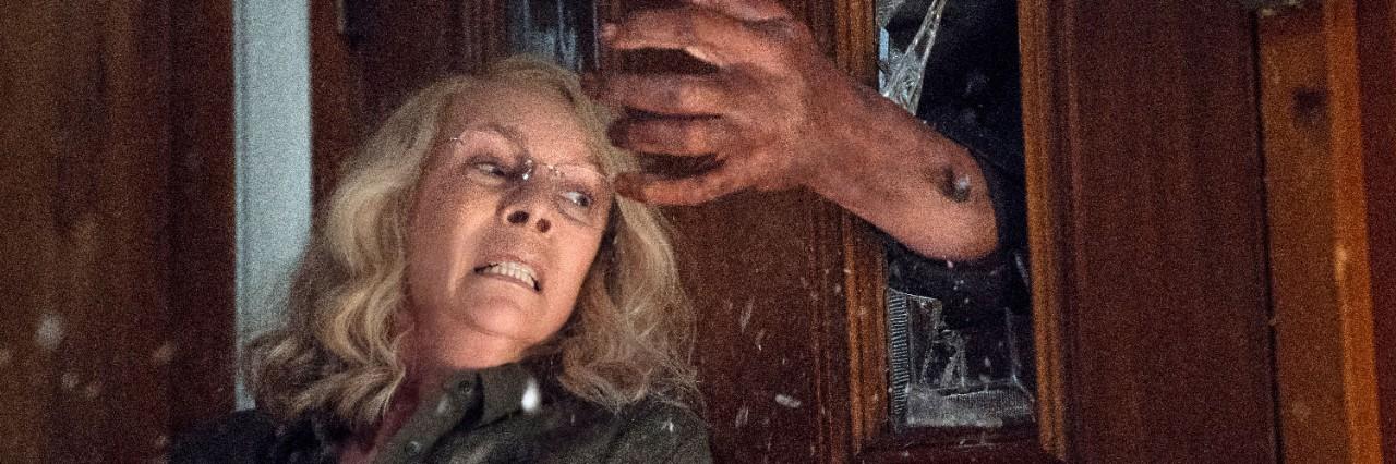 Jamie Lee Curtis in a scene from 'Halloween.' (Ryan Green / Universal