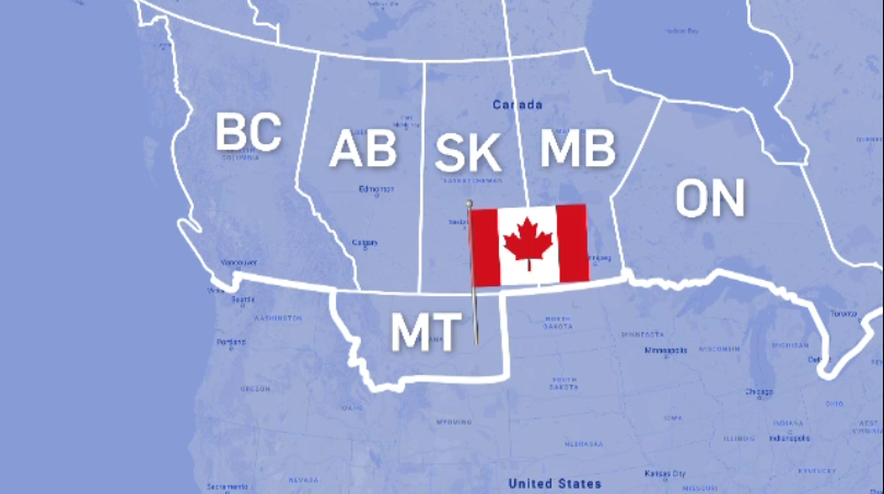 Montana Canada Map Petition calls for U.S. to sell Montana to Canada for $1 trillion