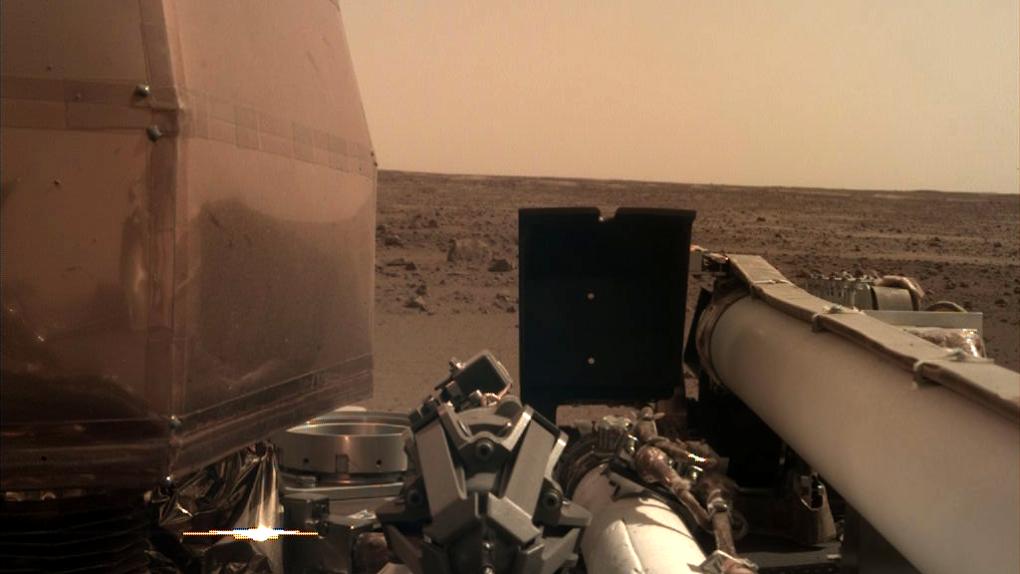 New NASA lander captures 1st sounds of Martian wind | CTV News