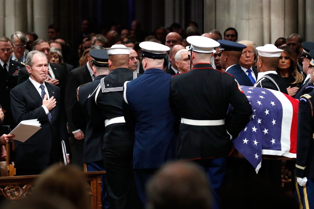 George H W Bush Celebrated With Praise And Humour At Cathedral Farewell Ctv News
