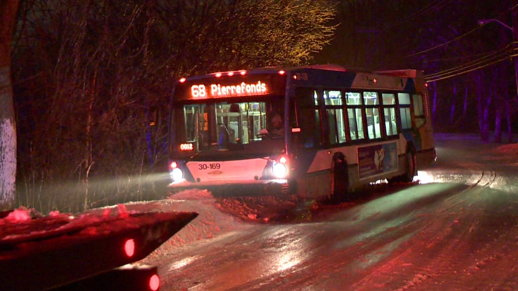 Slippery roads cause crashes, force buses to change routes | CTV