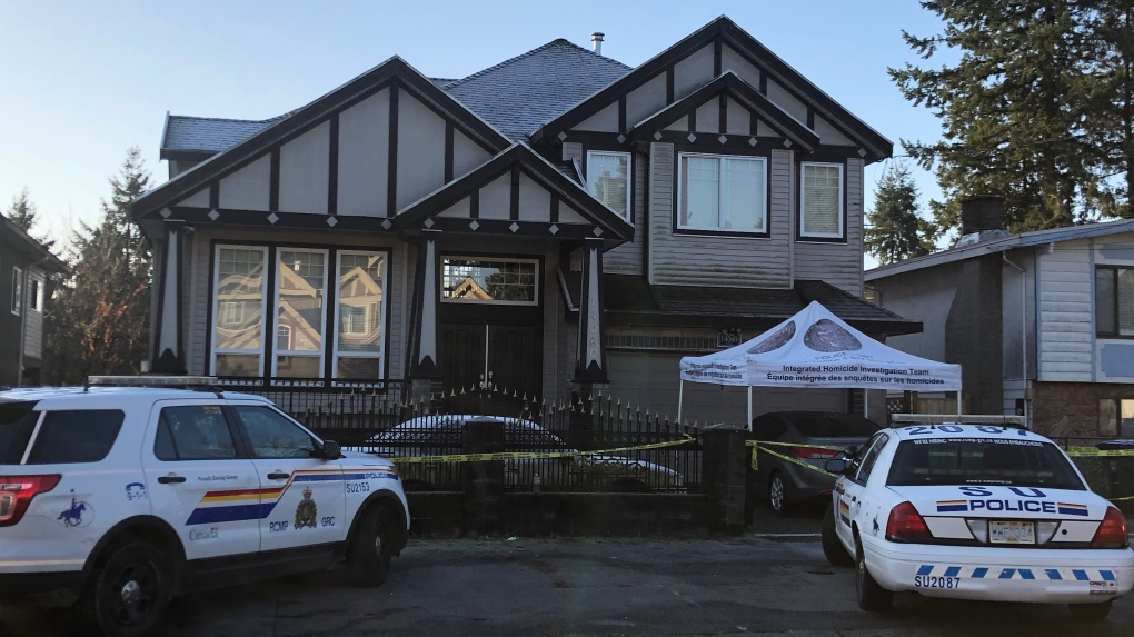Homicide investigators called to Surrey home after 2 people
