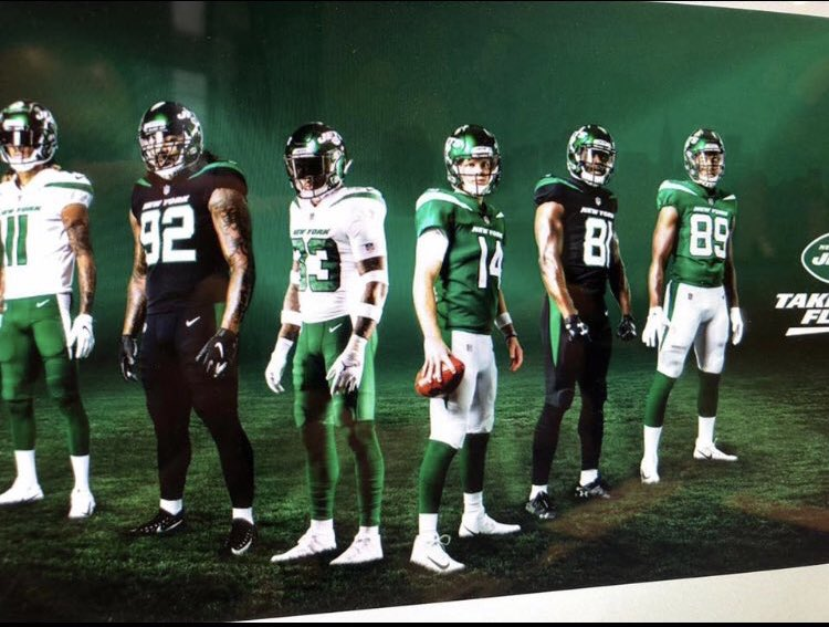 timeless design aac9c 77ac2 Leaked New York Jets jerseys 'very similar' to Rider green ...