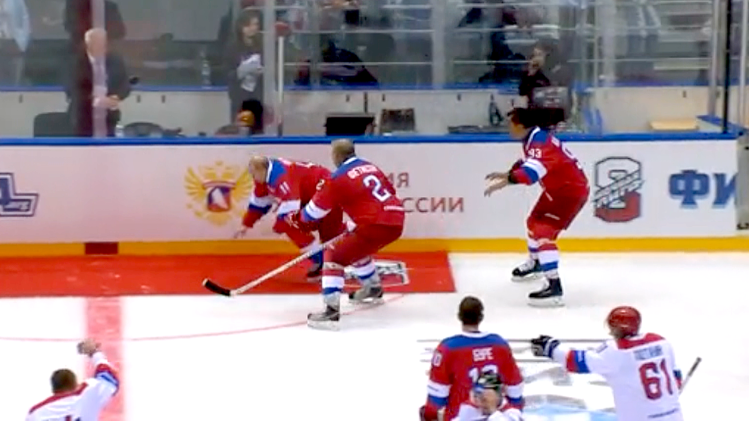He Shoots He Falls Putin Tumbles On Ice During Hockey Victory Lap Ctv News