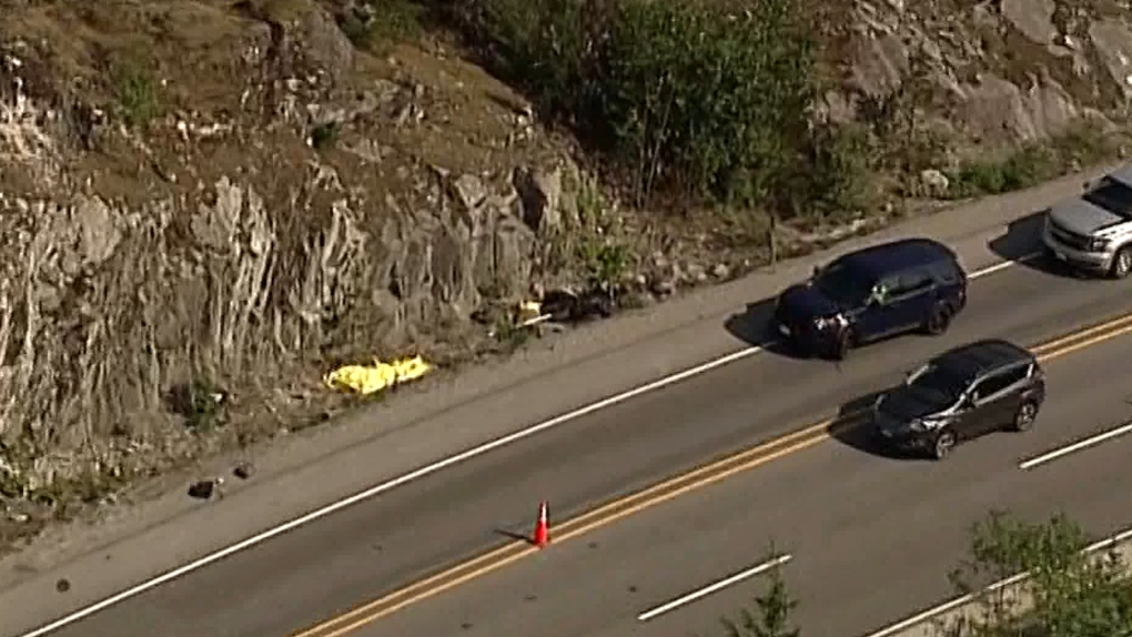 Fatal motorcycle crash closes part of Sea to Sky | CTV News