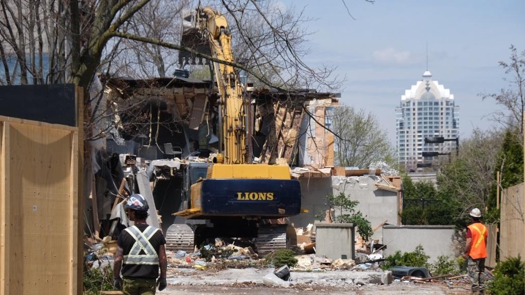 Demolition begins on Sherman mansion where billionaires were