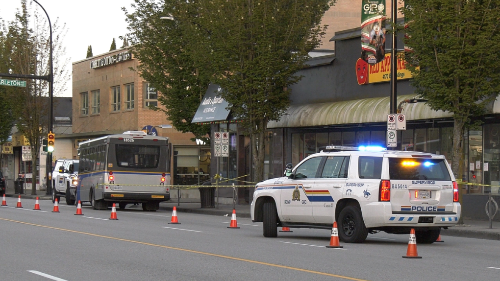 Man hit by shuttle bus after altercation on Burnaby sidewalk