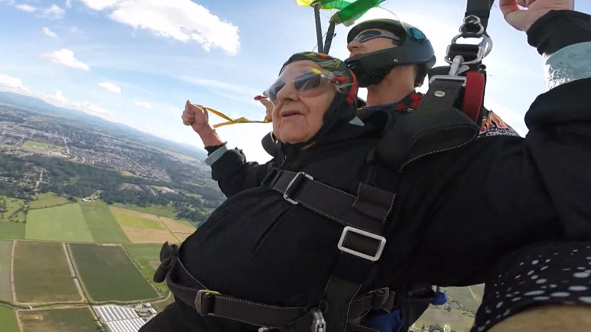 Age is just a number': Elderly Abbotsford residents skydive for