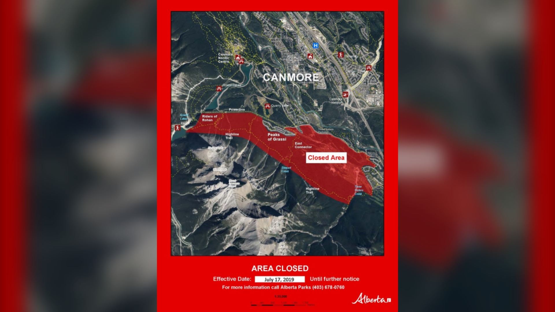 Canmore trails closed after grizzly sow with cubs spotted in area