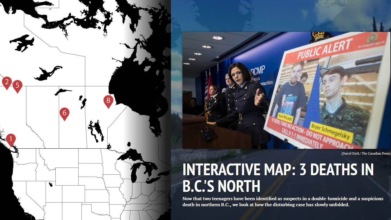 Interactive map: 3 deaths in B C 's north | CTV News
