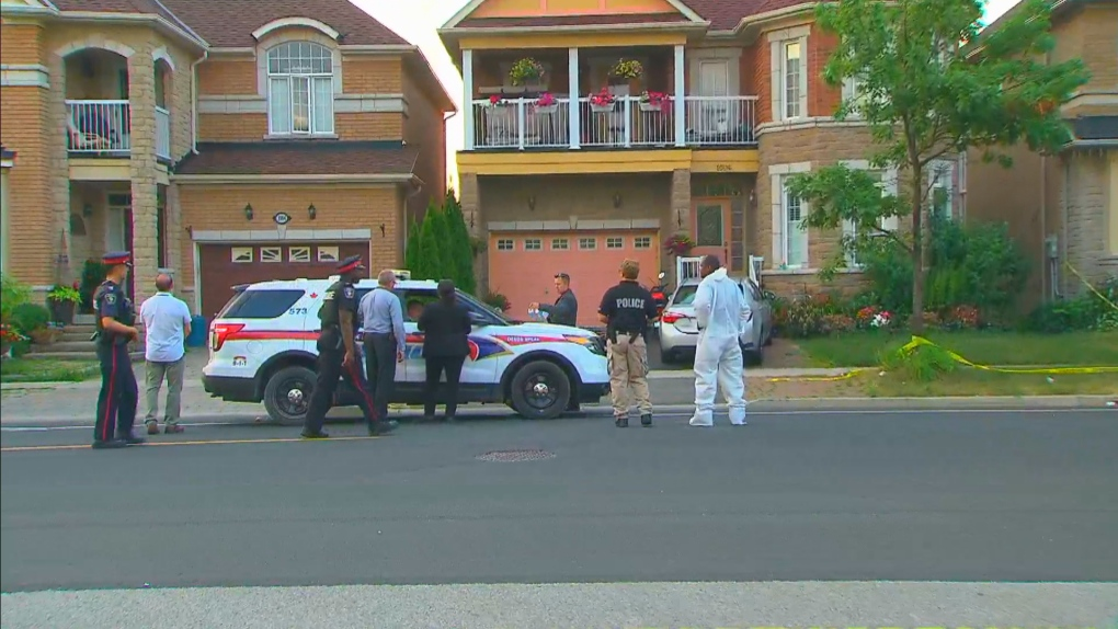 Four found dead inside Markham house, man in custody | CTV