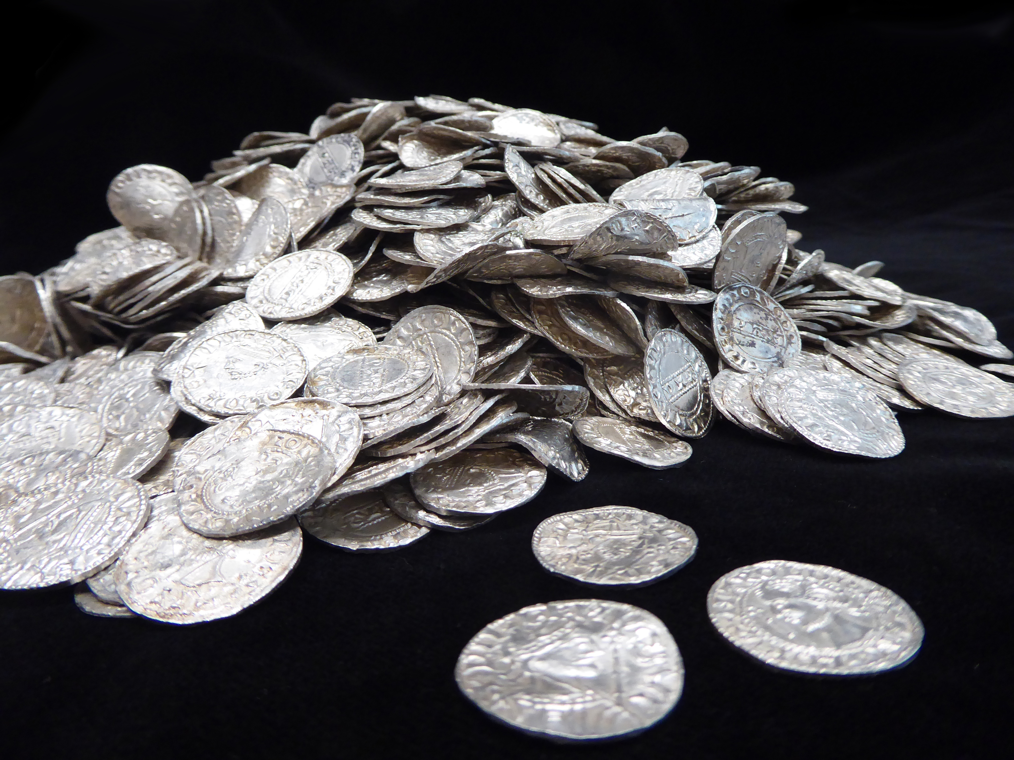 Buried treasure: 2,500 silver coins from 11th century found