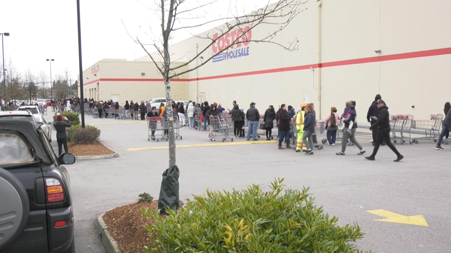 Empty shelves, massive lineups: Panic buying hits Metro Vancouver ...