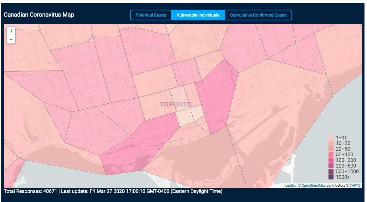gta toronto postal code map