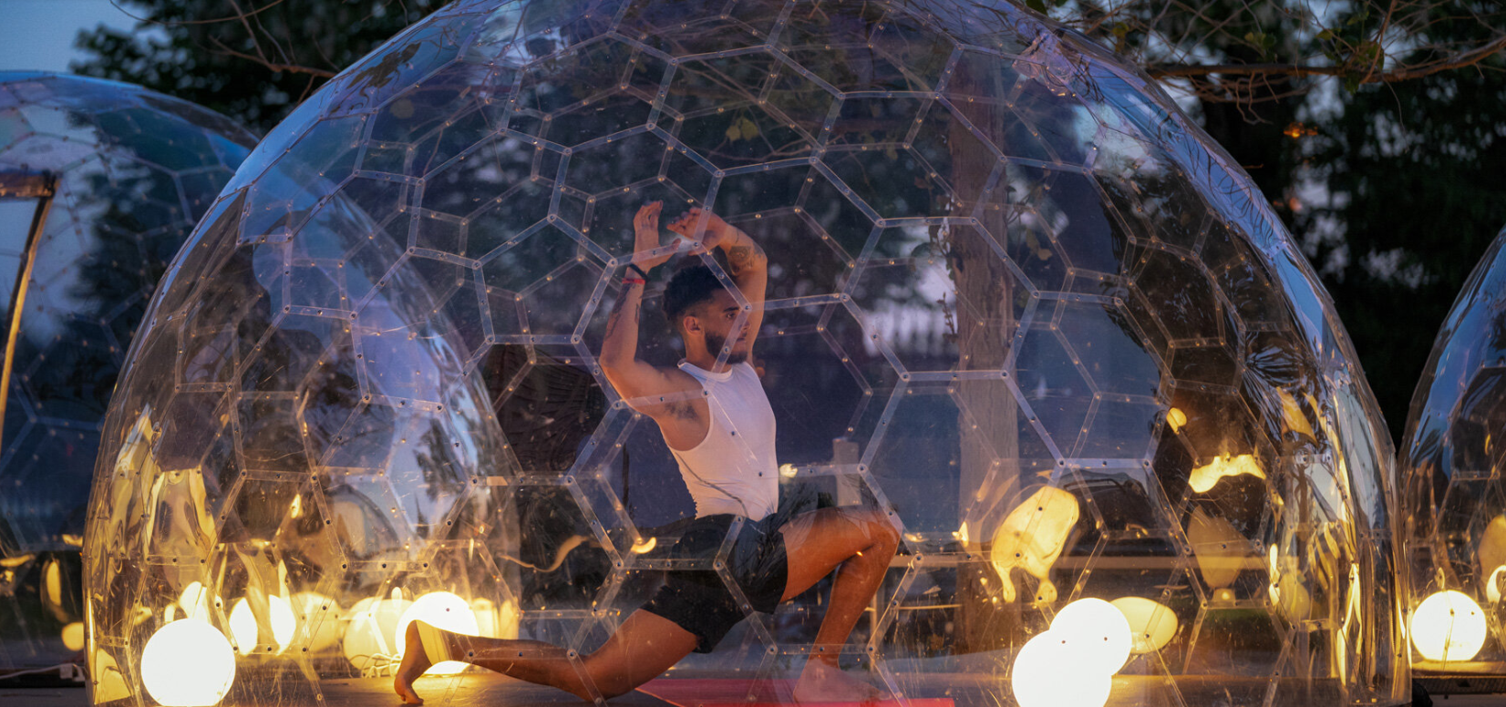 Outdoor Hot Yoga Domes Popping Up In Toronto Ctv News