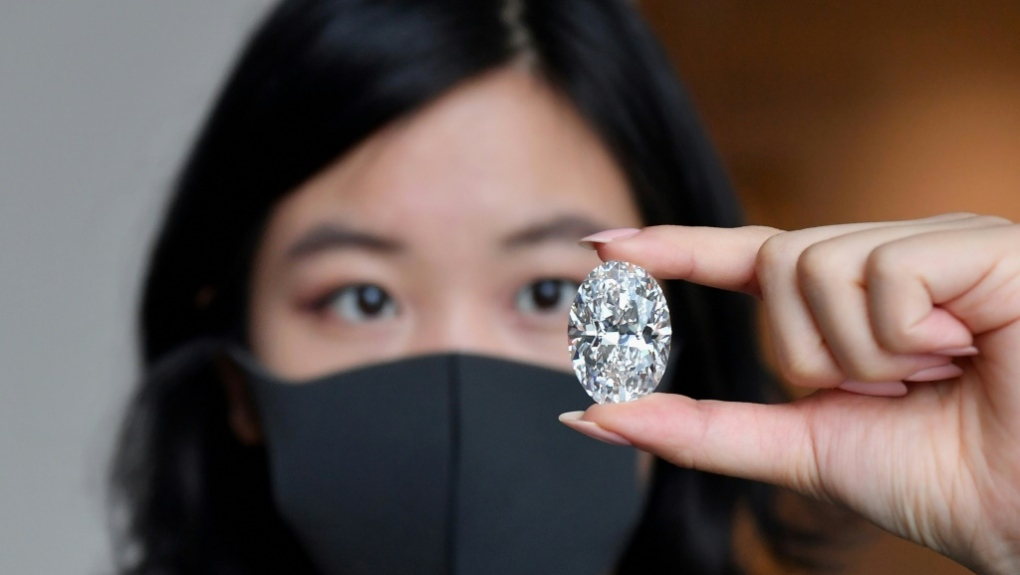 Without reserve and without estimate': Rare 102-carat white diamond mined  in Canada is up for auction | CTV News