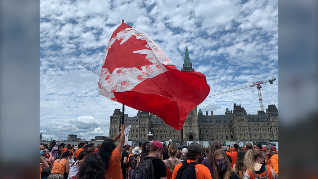 No Canada Day this Year, Citizens March in Honor of the Indigenous Children