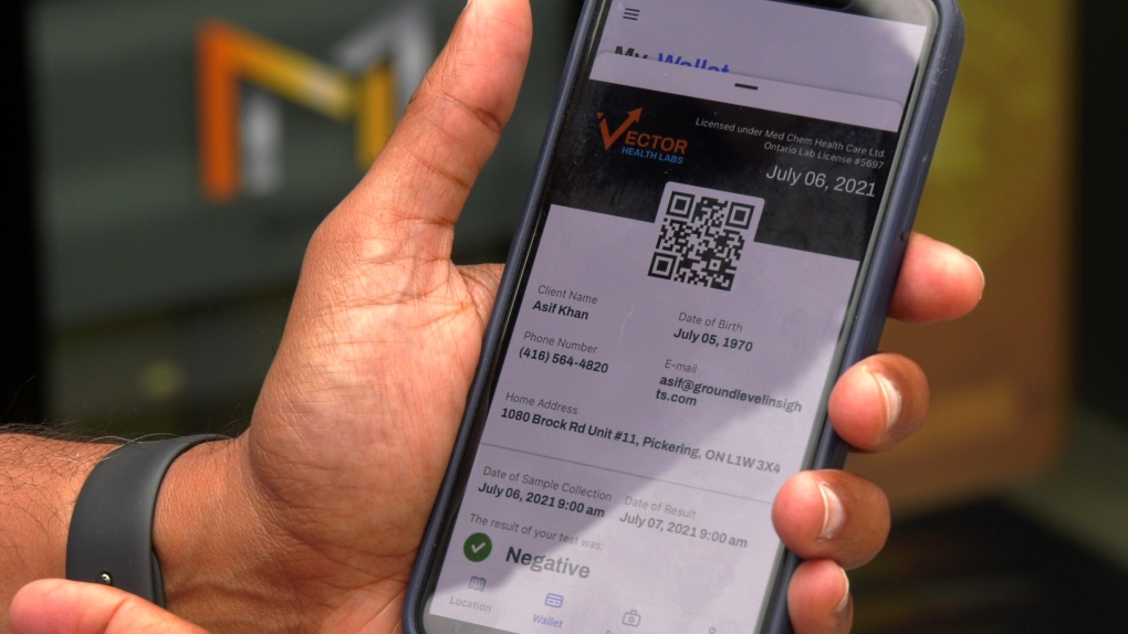 No government vaccine passport in Ontario? Toronto company builds app  anyway | CTV News