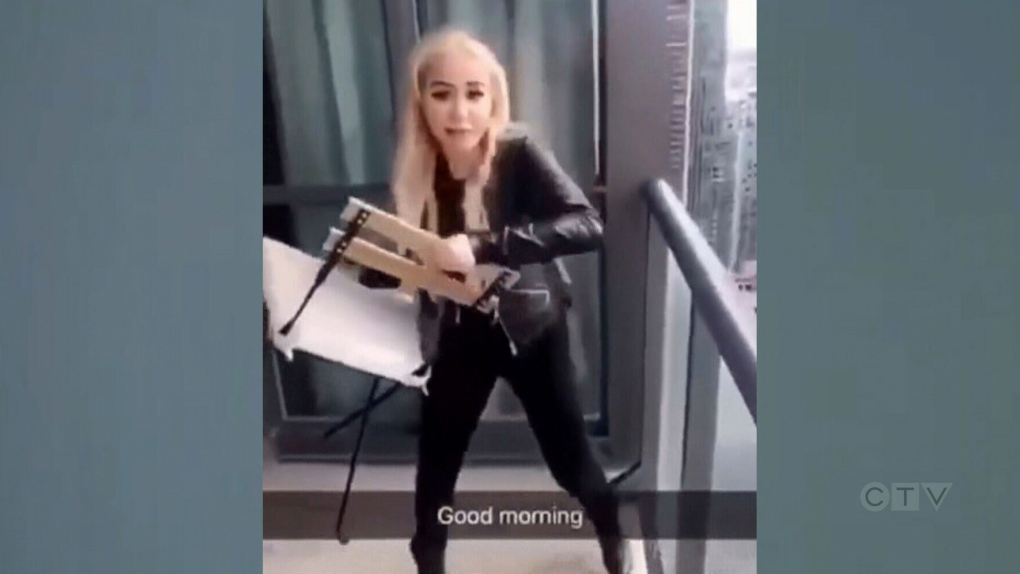 791e15d7ab6 Woman accused in Toronto balcony chair-tossing incident released on bail |  CTV News
