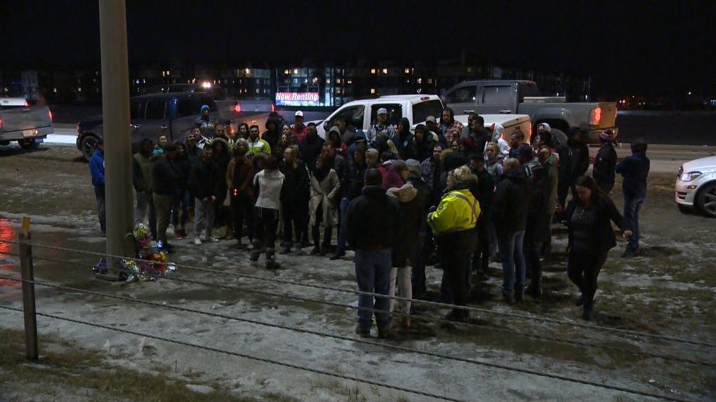Vigil held for motorcyclist killed in Henday crash | CTV News