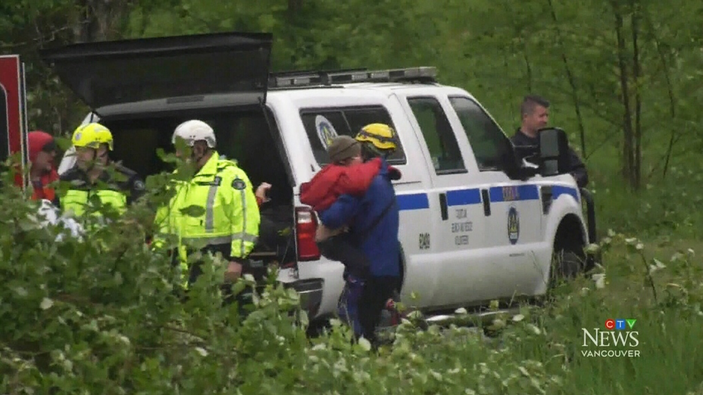Very grateful': Mother of children rescued from mountain