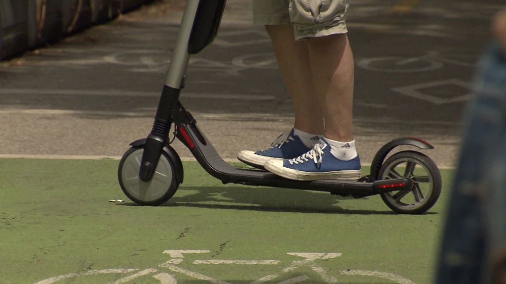 Banned in B C : Riding an e-scooter could cost you $600 | CTV News