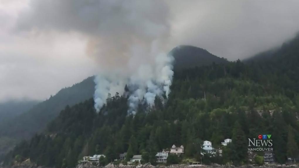 Wildfire burning alongside Sea to Sky Highway | CTV News