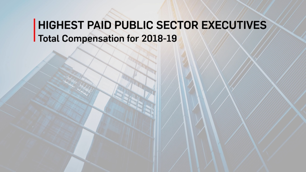 Top 10 public sector executive salaries released | CTV News