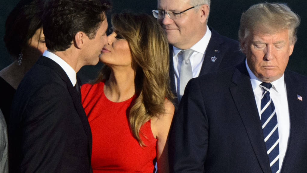 Melania and Trudeau cheek-kiss gets meme treatment | CTV News