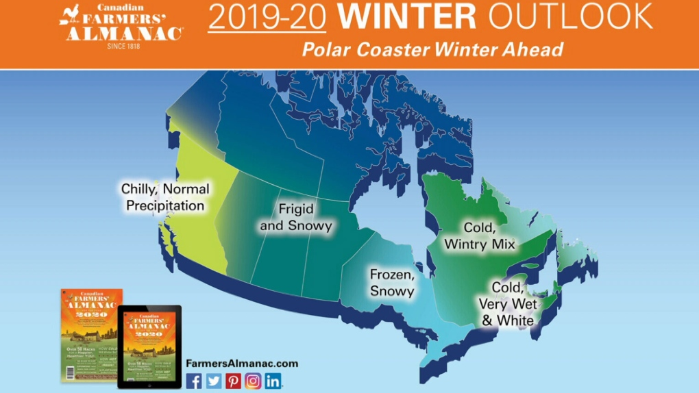 Freezing, frigid and frosty': Farmers' Almanac forecasts a
