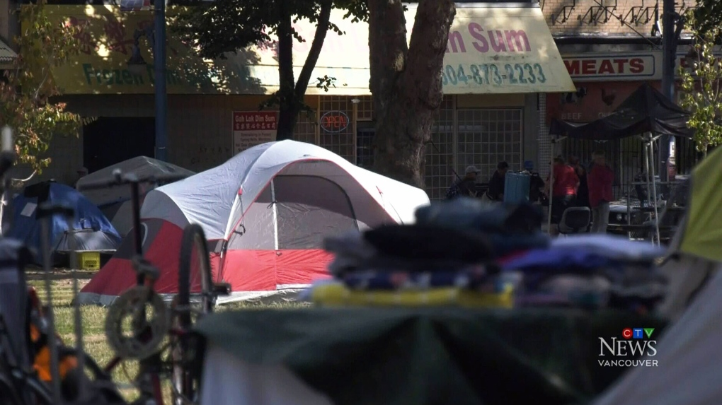 Vancouver mayor wants control over tent city at Oppenheimer