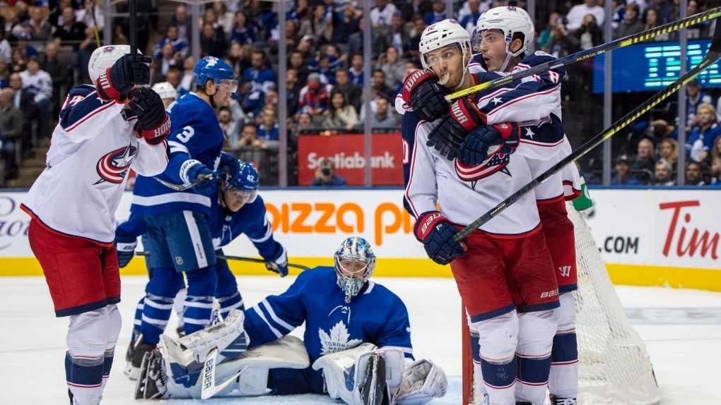 Columbus Blue Jackets Beat Toronto Maple Leafs In Overtime Ctv News