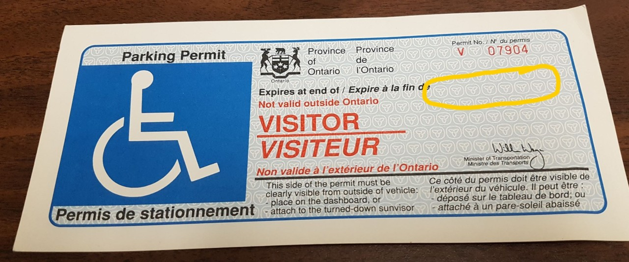 600 Validation Stickers Handicap Permits Stolen From Essex County Service Ontario Opp Ctv News