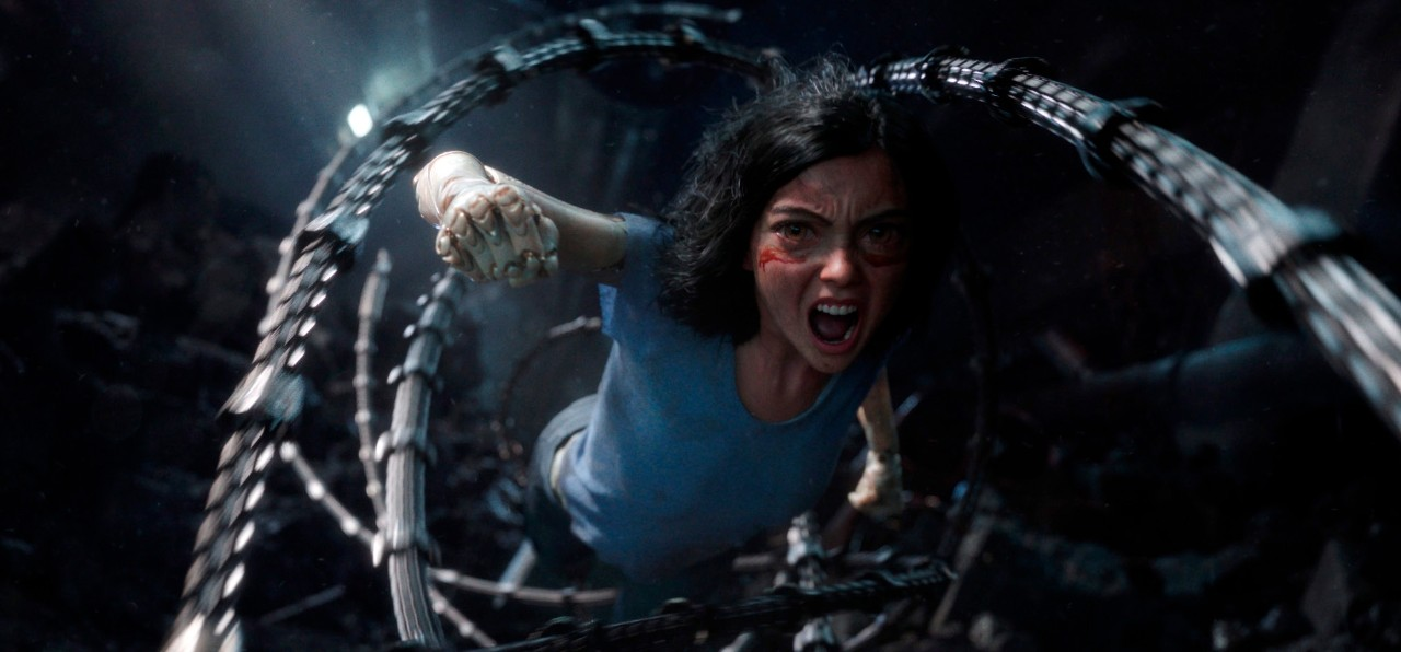 A scene from 'Alita: Battle Angel'