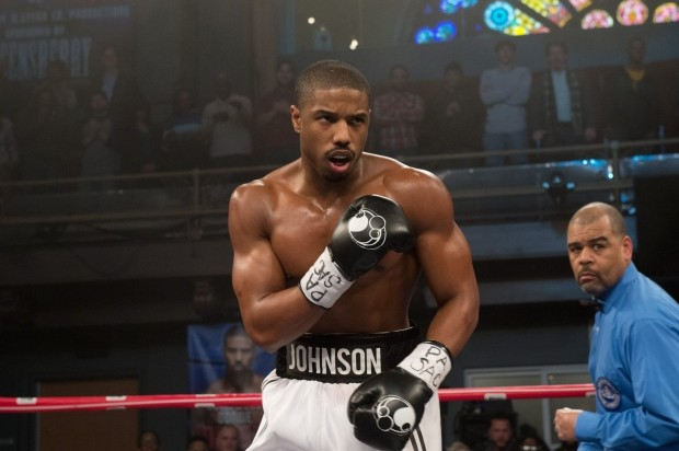 "This photo provided by Warner Bros. Pictures shows, Michael B. Jordan as Adonis Johnson in Metro-Goldwyn-Mayer Pictures', Warner Bros. Pictures' and New Line Cinema's drama ""Creed,"" a Warner Bros. (Barry Wetcher / Warner Bros via AP)"