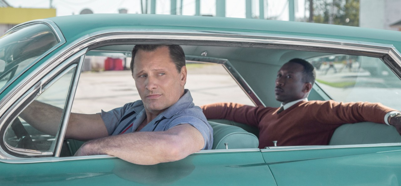 Viggo Mortensen, left, and Mahershala Ali in a scene from 'Green Book.' (Universal Pictures via AP)