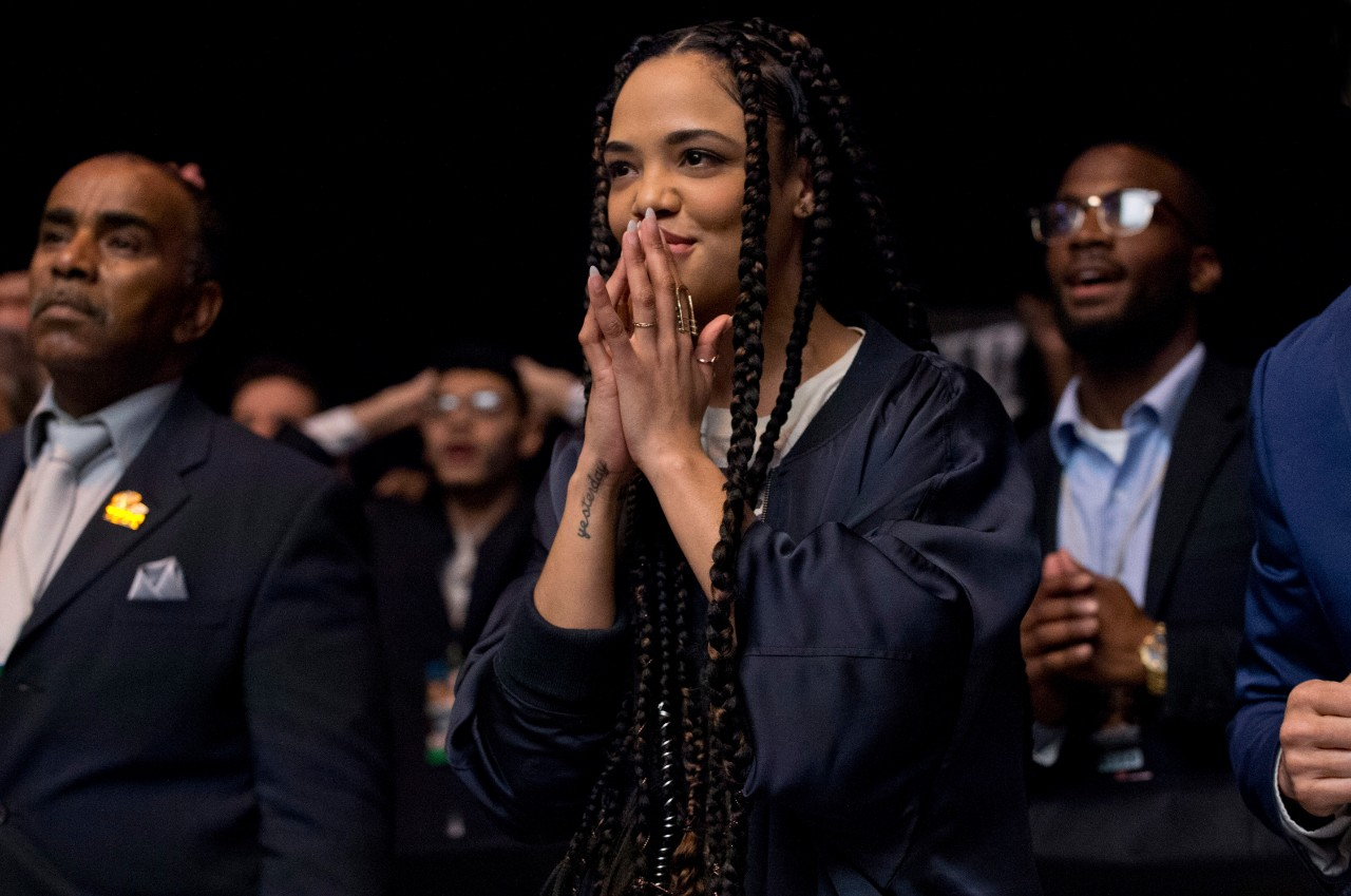 Tessa Thompson in a scene from 'Creed II.'  (Barry Wetcher / Metro Goldwyn Mayer Pictures / Warner Bros. Pictures via AP)