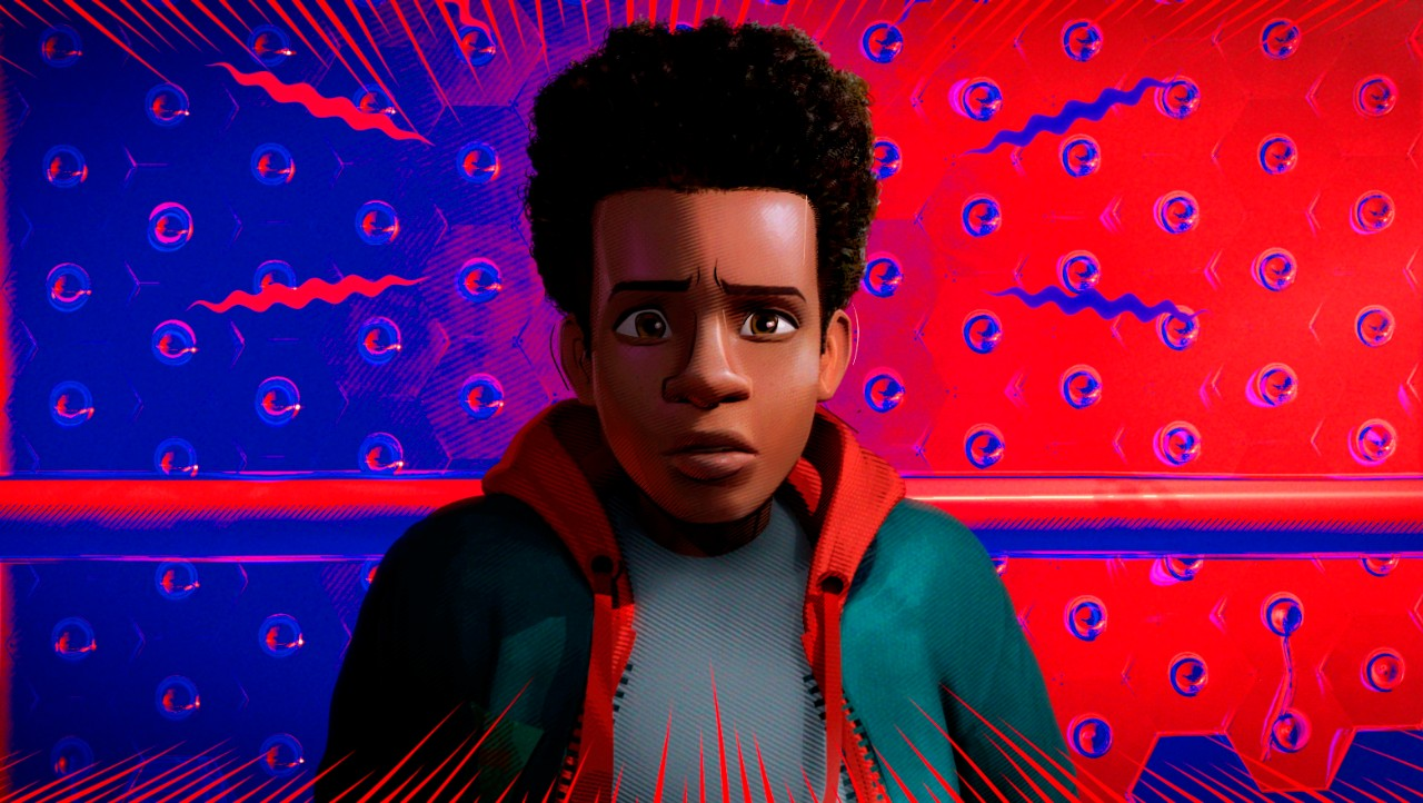 Miles Morales, voiced by Shameik Moore, in a scene from 'Spider-Man: Into the Spider-Verse.' (Sony Pictures Animation via AP)