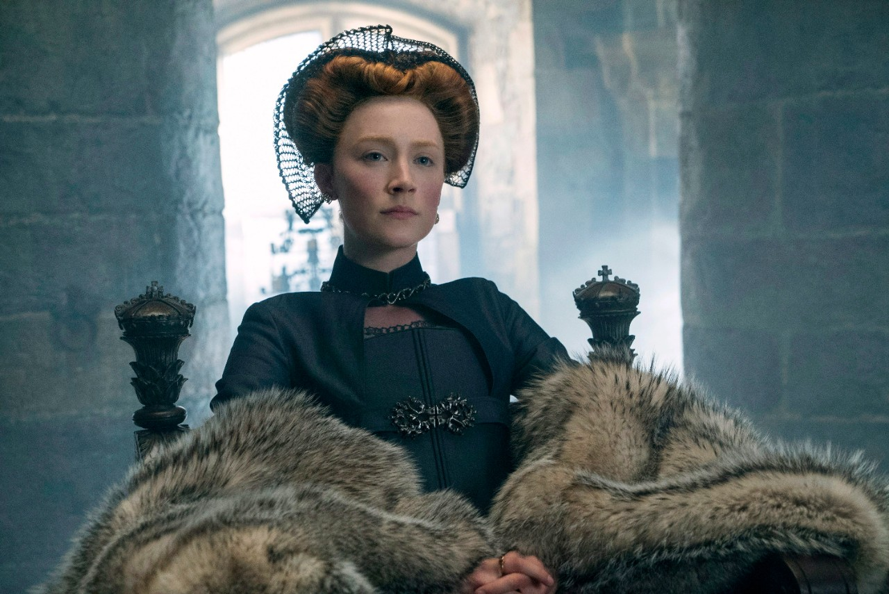 Saoirse Ronan as Mary Stuart in 'Mary Queen of Scots.' (Liam Daniel / Focus Features via AP)