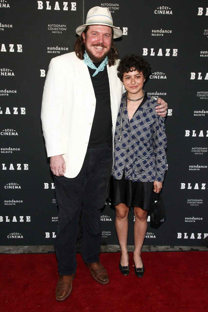 Ben Dickey, left, and Alia Shawkat, right, attend a special screening of 'Blaze' in New York, on Sept. 5, 2018. (Andy Kropa / Invision / AP)