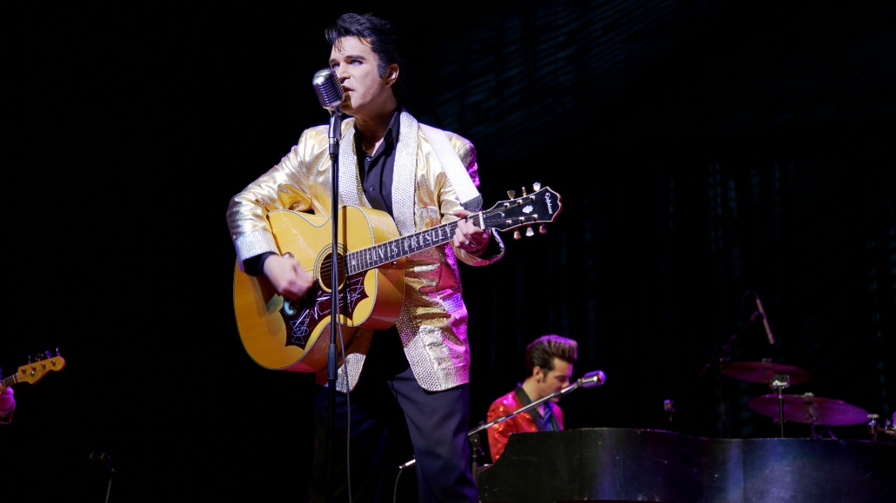 Ted Torres performs as Elvis Presley in a scene from 'Almost Almost Famous.'