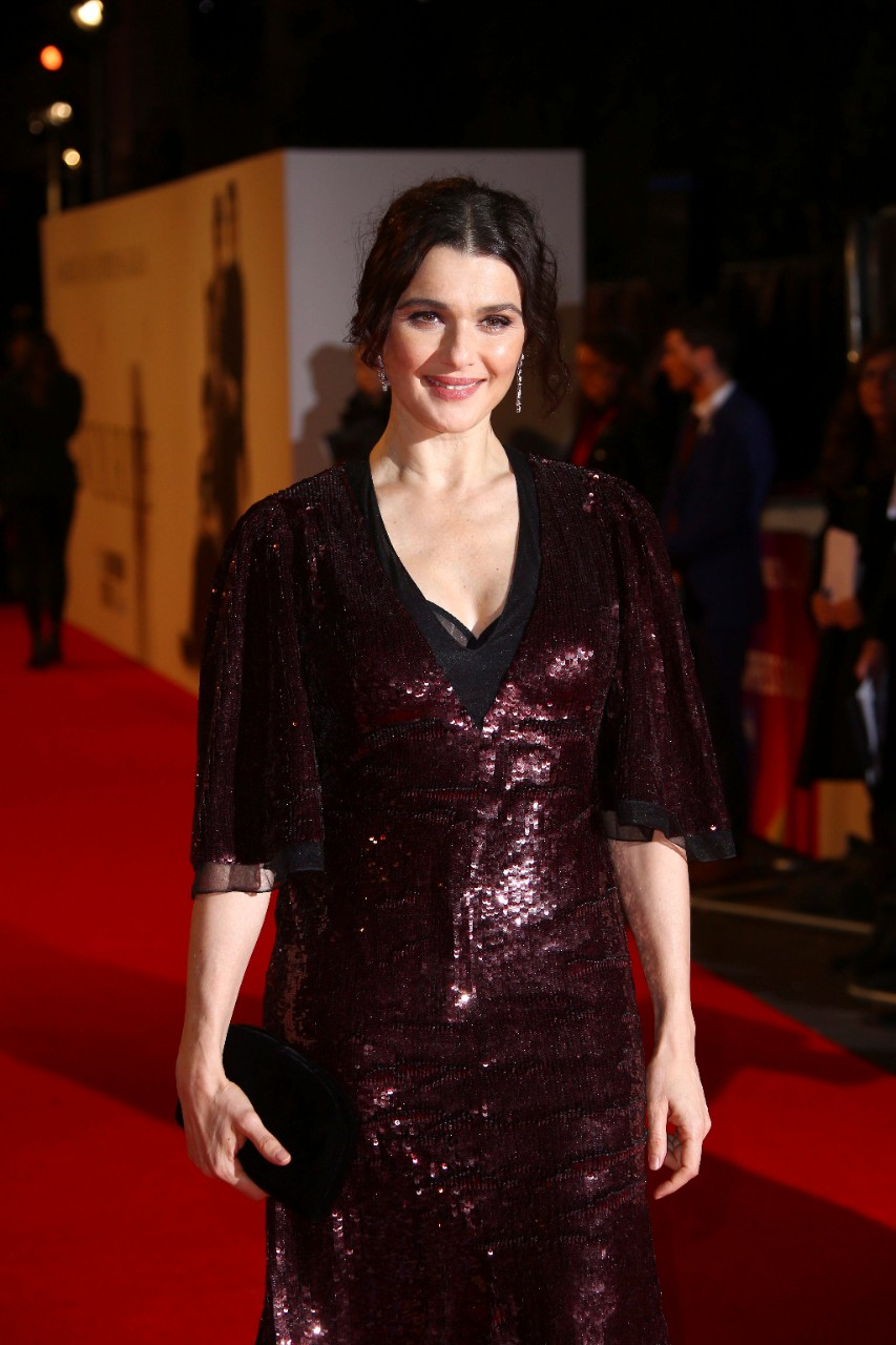 Rachel Weisz at 'The Favourite' premiere in London, on Oct. 18, 2018. (Joel C Ryan / Invision / AP)