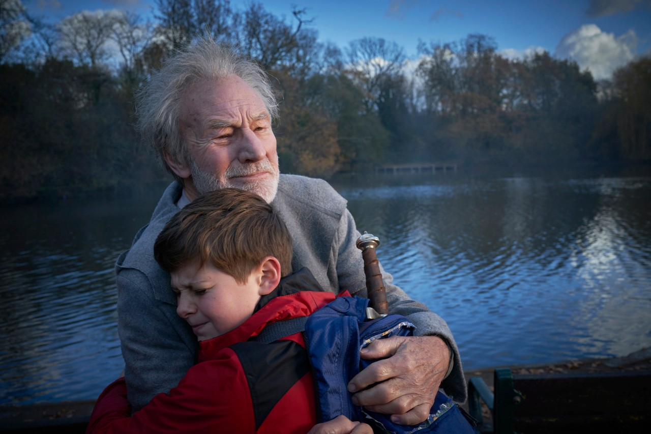 Patrick Stewart and Louis Ashbourne Serkis in 'The Kid Who Would Be King'