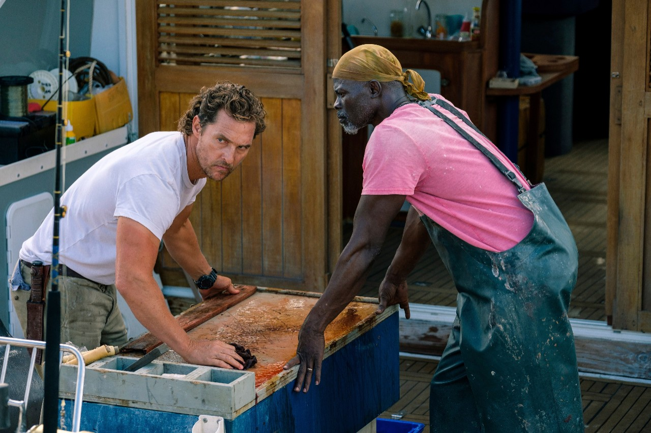 Matthew McConaughey and Djimon Hounsou in 'Serenity'